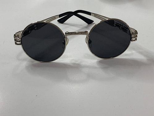 Retro Black Lens Steampunk Sunglasses