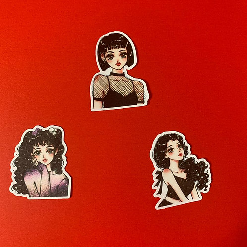 Fashion Girl Sticker Set - II