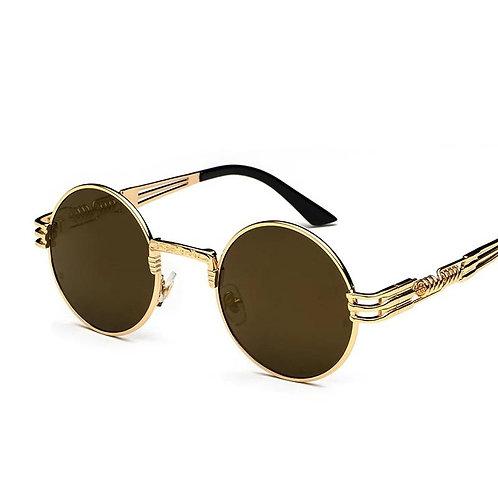 Retro Golden Lens and Frame Sunglasses