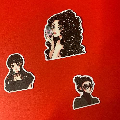 Fashion Girl Sticker Set - III