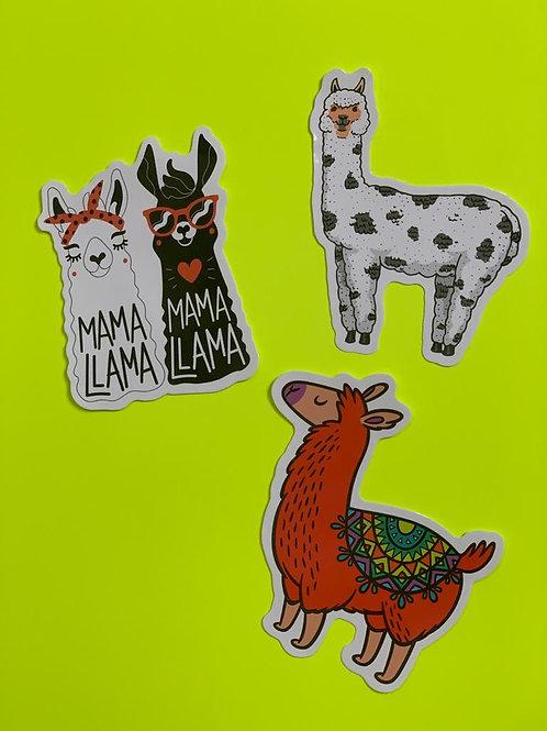Llama Character Sticker Set - iv