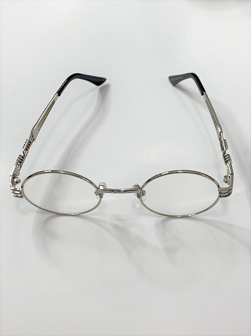 Retro Clear Lens Steampunk Sunglasses