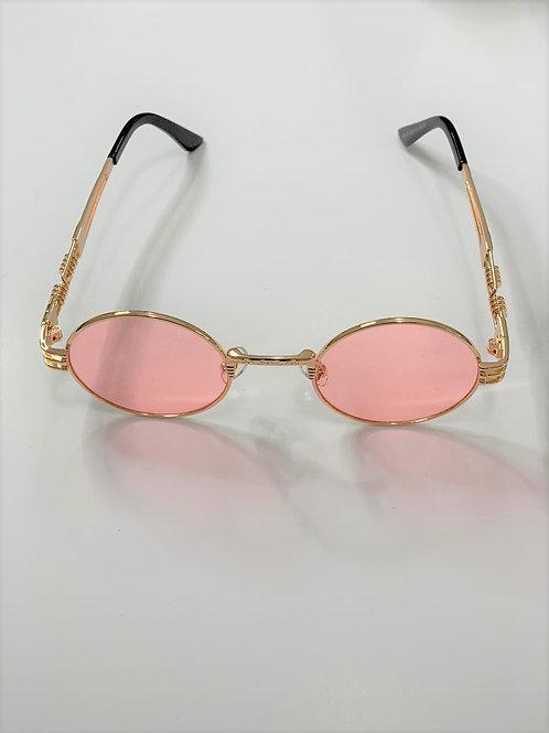 Retro Golden Framed Steampunk Sunglasses