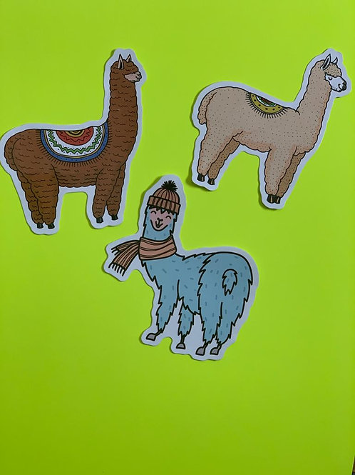 Llama Character Sticker Set - i