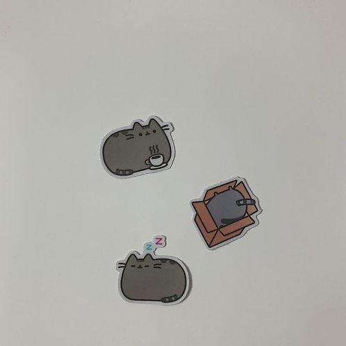 Lazy Cat Sticker Set II