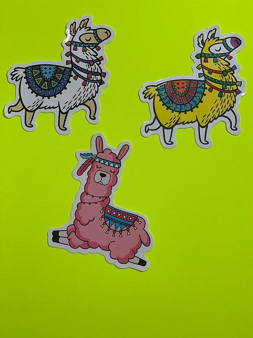 Llama Character Sticker Set - iii
