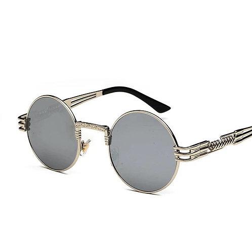 Retro Reflective  Silver Lens and Frame Sunglasses