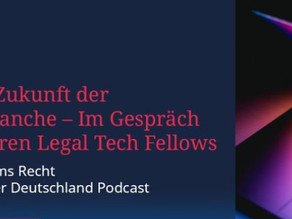 Podcast: Digitale Zukunft der Rechtsbranche – Im Gespräch mit unseren Legal Tech Fellows