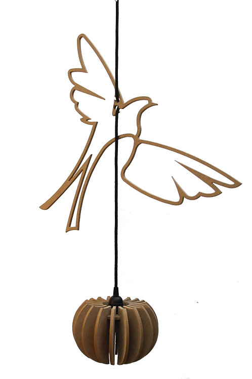 Suspension Bois Design Birds of paradise 50 cm wrecking ball