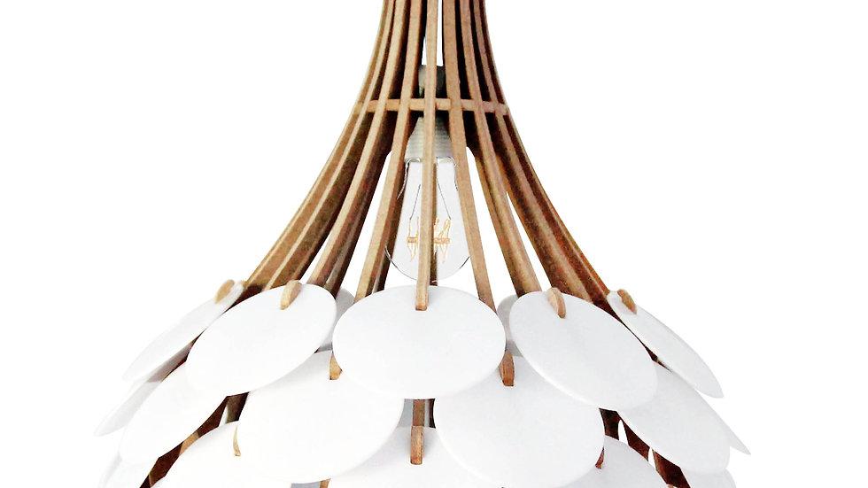 Suspension Design bois plexi D47cm  RESPIRE FERME Kit lin et bois