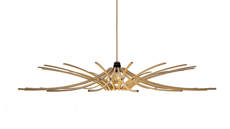 Suspension Design bois D97cm SUNNY - kit cable lin et rosace bois