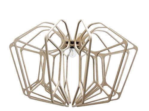 Suspension Bois design D90cm DIAMOND- Kit coton et métal noir