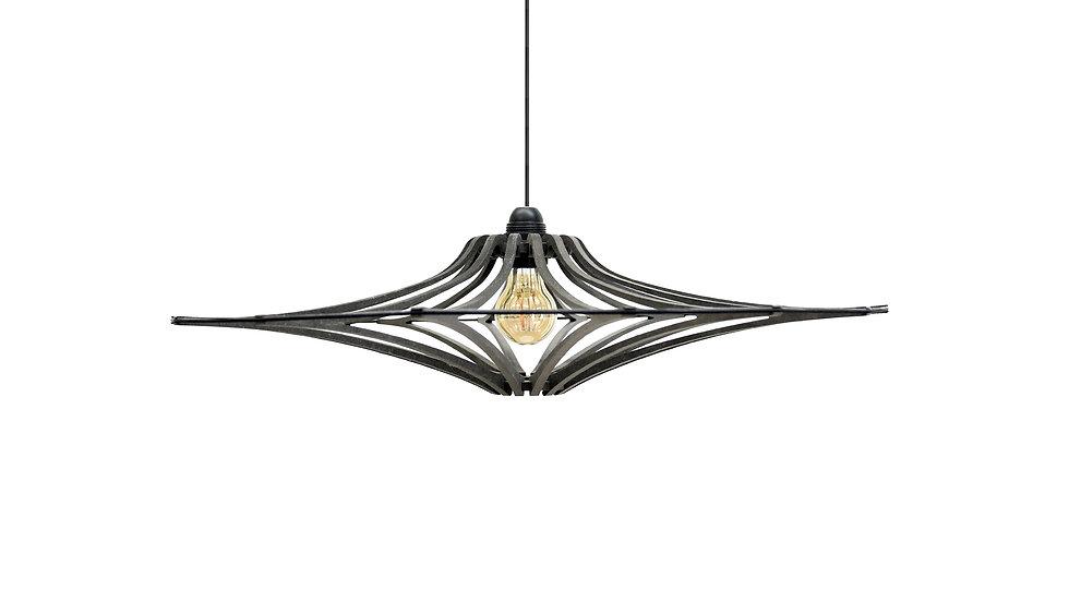 Suspension Design bois noir D65cm SINGING BLACK - élastique Noir - kit noir