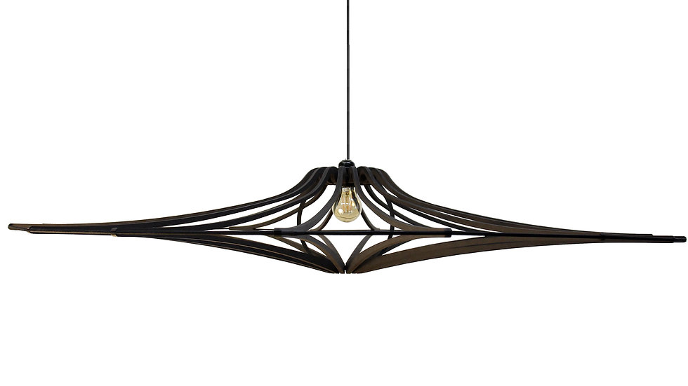 Suspension Bois design bois noir XL D160 SINGING BLAC