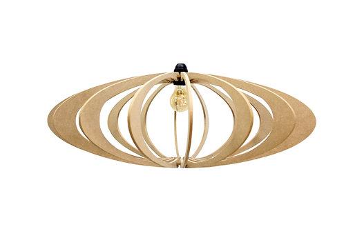 Suspension Design bois D70cm ROLLING Kit cable lin et rosace bois