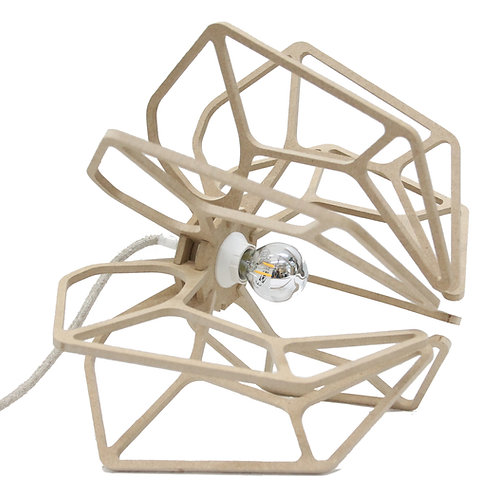 Lampe à poser bois design H25cm DIAMOND