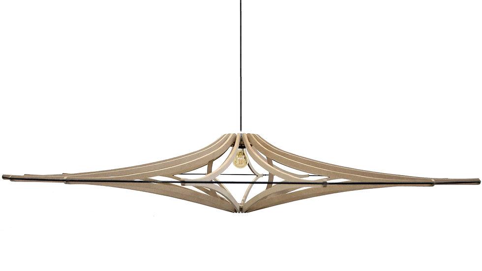 Suspension Design bois XL D160 cm SINGING BRUT - élastique Noir - kit noir