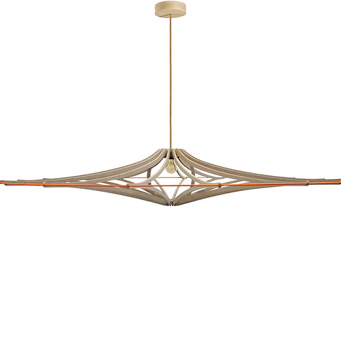 Suspension Design bois D160 cm XL SINGING BRUT - élastique oran - kit l