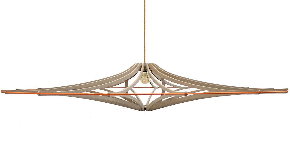 Suspension D160 cm XL SINGING BRUT - élastique orange - kit lin