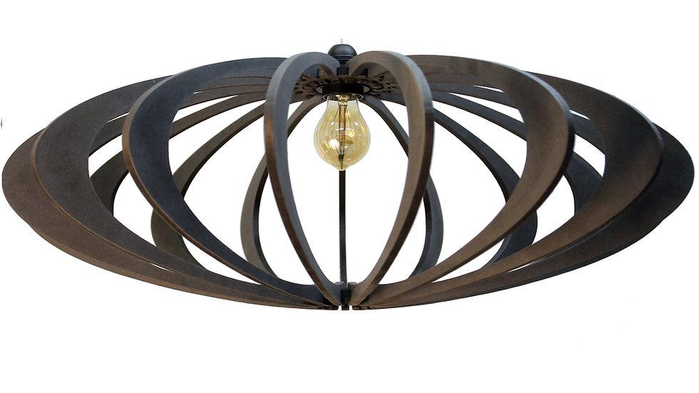Suspension Design bois D70cm Rolling Black Kit cable coton et métal noir