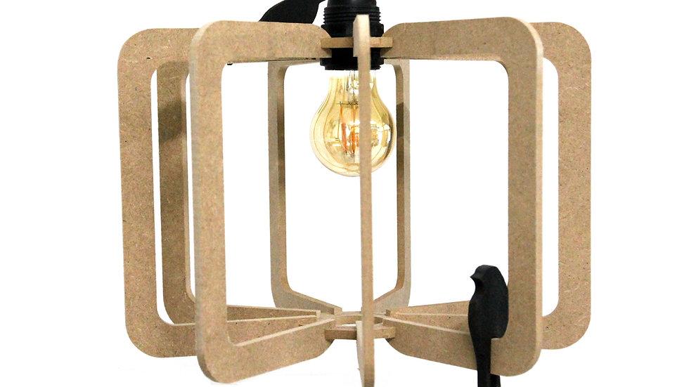 Suspension Design bois D30cm BIRD kit cable noir
