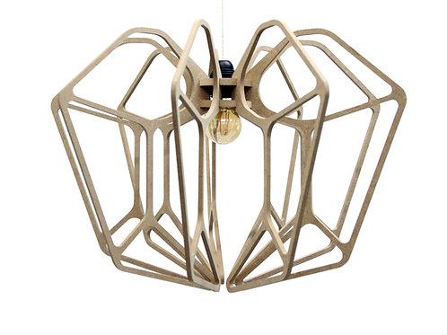 Suspension Design bois D36cm DIAMOND- Kit coton et métal noir