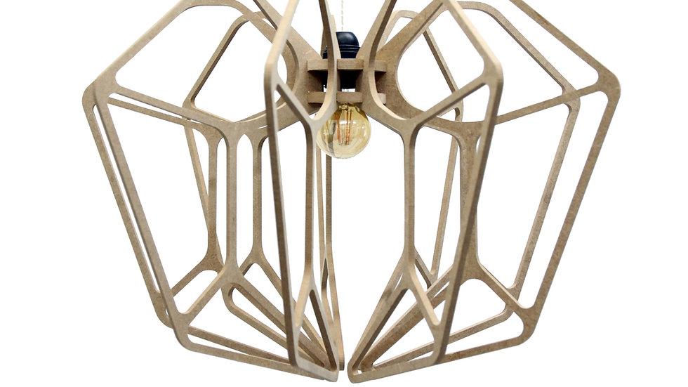 Suspension Design bois D54cm DIAMOND - Kit coton et métal noir