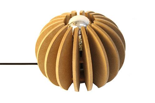 Lampe à poser bois boule D 20cm Wrecking Ball cable noir
