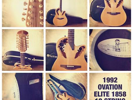 1992 OVATION ELITE 1858 12 STRING GUITAR
