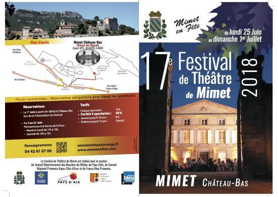 17ème Festival de Théâtre du 25 juin au 1er juillet à Château Bas