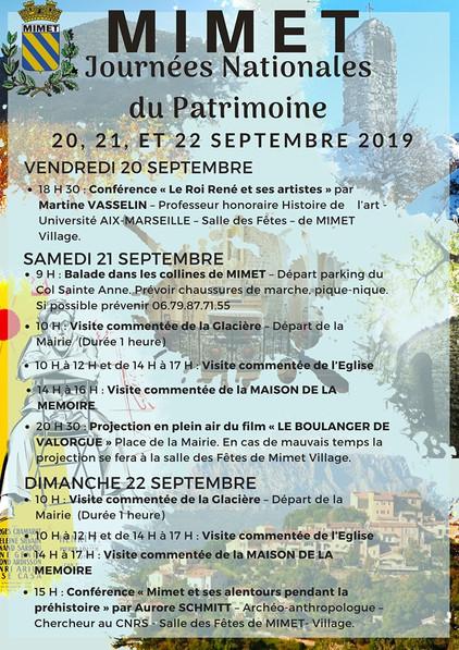 Journées Nationales du Patrimoine à Mimet