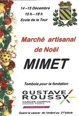 MARCHE ARTISANAL DE NOEL MIMET les 14 et 15 décembre -Ecole de la Tour