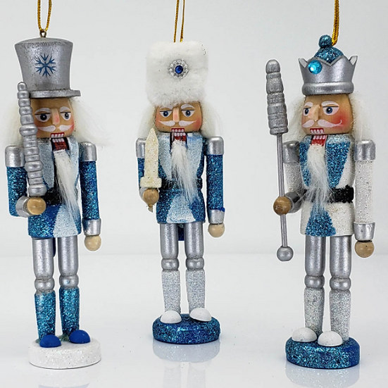 Snow Fantasy Nutcracker Ornament 6 Inch