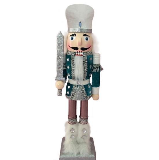 Soldier Nutcracker Blue Velvet Jacket and Fur Boots 15 Inch