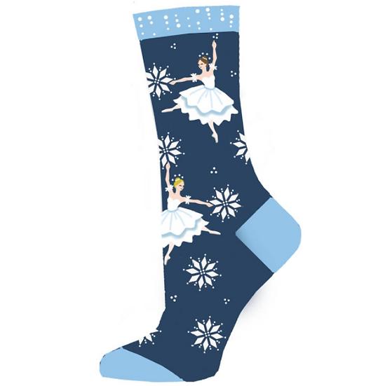 Snow Scene Dancers Lightweight Sock
