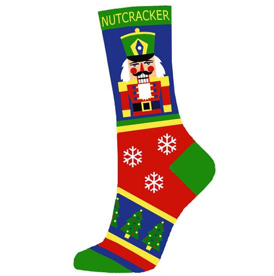 Multicolor Christmas Nutcracker Lightweight Sock