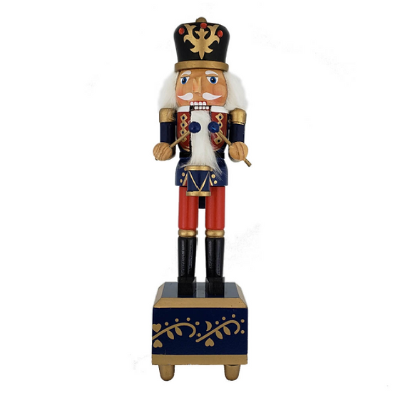 Traditional Soldier Nutcracker Suite Music Box 12 Inch