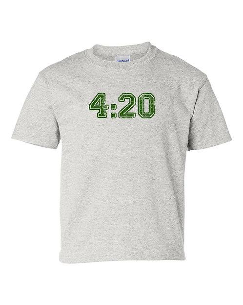 4:20 Marijuana Logo Ash Grey T-Shirt