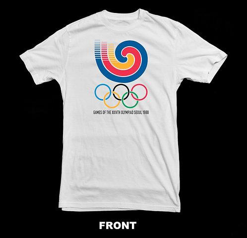 1988 SEUOL SOUTH KOREA OLYMPIC LOGO (Summer Olympics) T-SHIRT