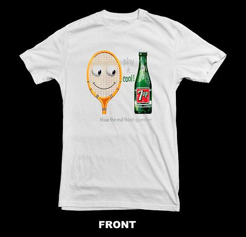 Vintage 7UP Tennis Advertisement T-Shirt
