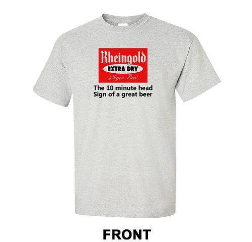 Rheingold Beer Vintage T-Shirt | 10 Minute Head Ad