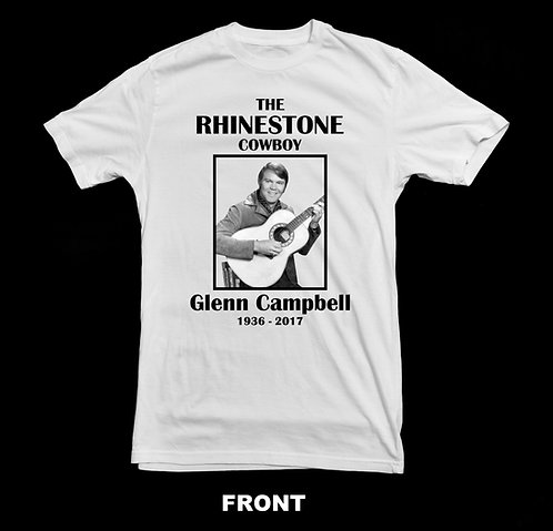 Glenn Campbell Tribute T-Shirt (Rhinestone Cowboy) T-SHIRT