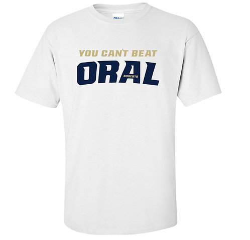 You Can't Beat Oral  March Madness ORU Golden Eagles T-Shirt