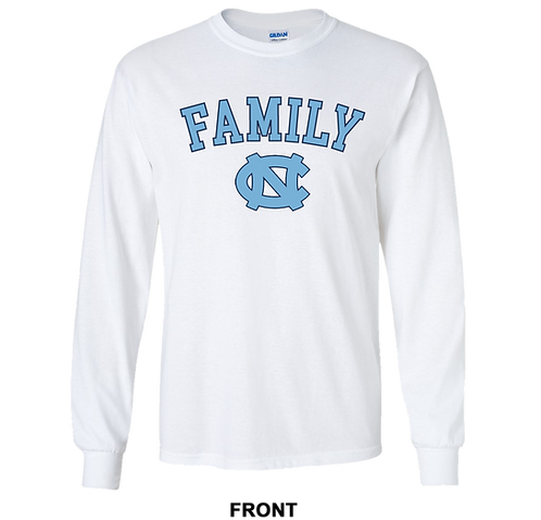 UNC Tar Heels Long Sleeve T Shirt | Family | March Madness