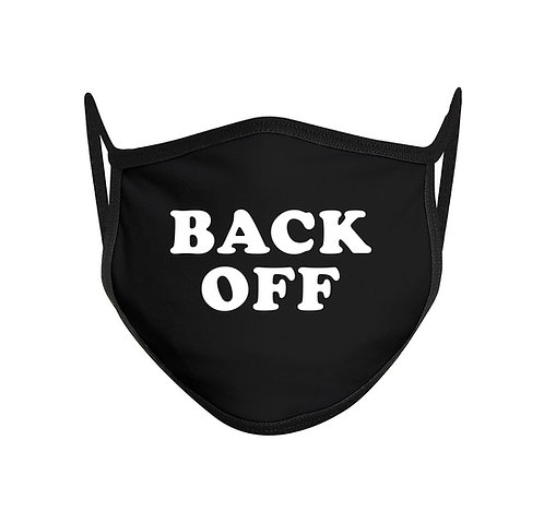 Back Off Funny Face Mask Mouth Cover