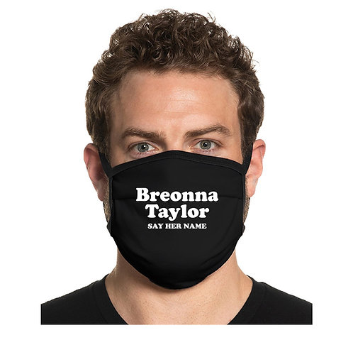Breonna Taylor Say Her Name Face Mask Cover