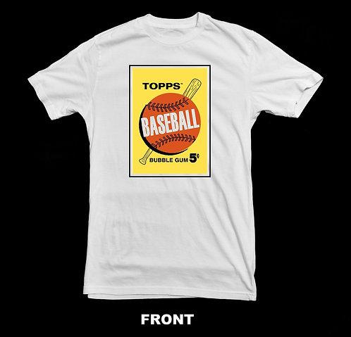 Topps Vintage Baseball T Shirt | Topps Bubble Gum Card