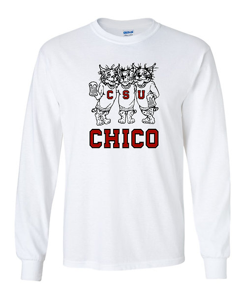 Vintage 1980's Chico State Drinking  Wildcats Long Sleeve T-Shirt