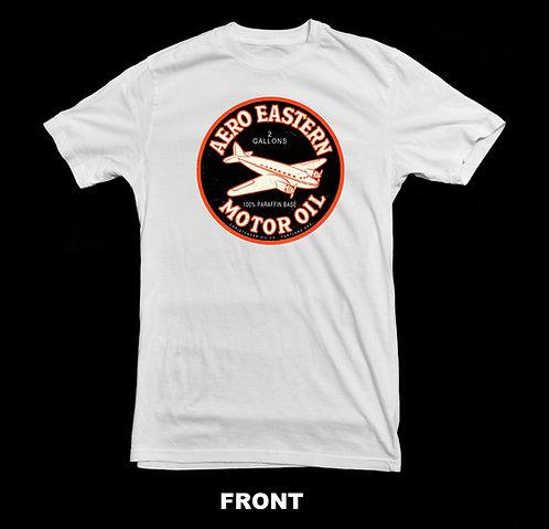 Aero Eastern Motor Oil White T Shirt