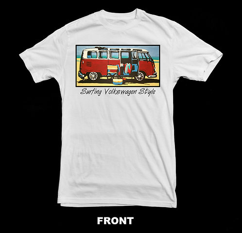 Volkswagen Vintage VW Micro Bus T Shirt | Surfing Style